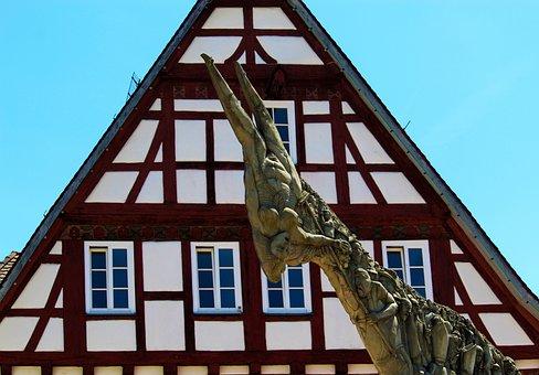 Monument, Fachwerkhaus, Biberach A, D, Crack, Wieland