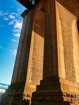 Bridge, Stone, River, Architecture, Landscape, Tourism