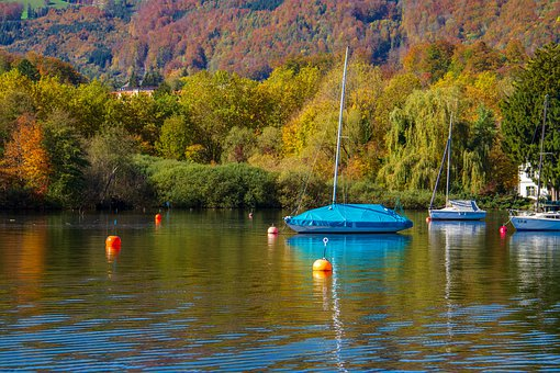 Sailing Boat, Autumn, Water, Lake, Autumn Mood, Sport