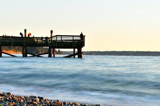 Beach, Seashore, Calm Water, Silky Water, Landscape