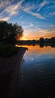 Sunset, Sun, Evening, Sky, Landscape, Mood, Nature