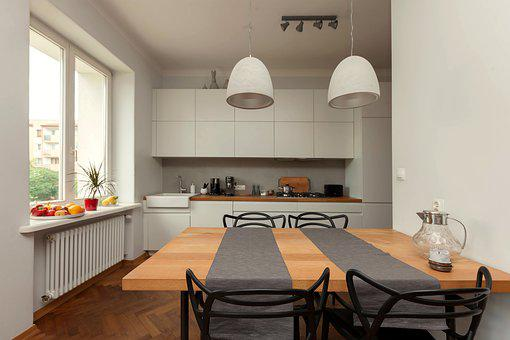 Kitchen, Dining Table, Furniture, Eating, Interior