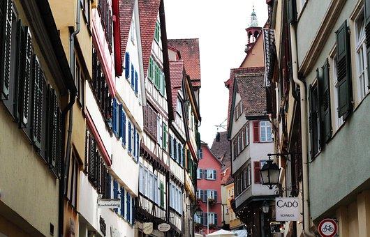 Tübingen, Alley, Truss, Historically, Historic Center