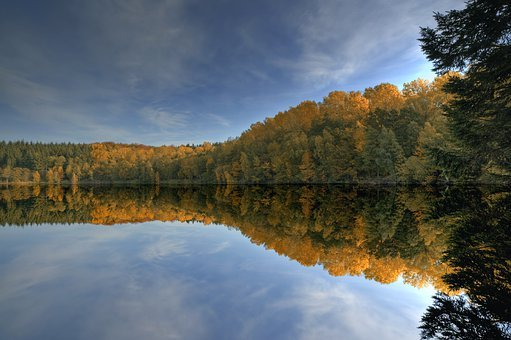Lake, Pond, Waldsee, Water, Forest, Autumn, Ith