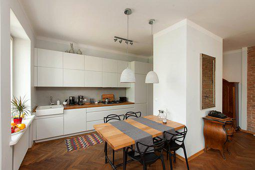 Kitchen, Eating, Dining Room, Wood, Style, The Scenery
