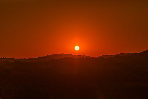 Sunrise, Sun, Nature, Dawn, Colors, Landscape, Horizon