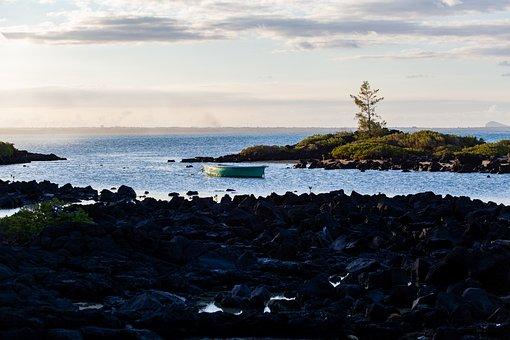 Mauritius, Coastline, Sea View, Volcanic Rock