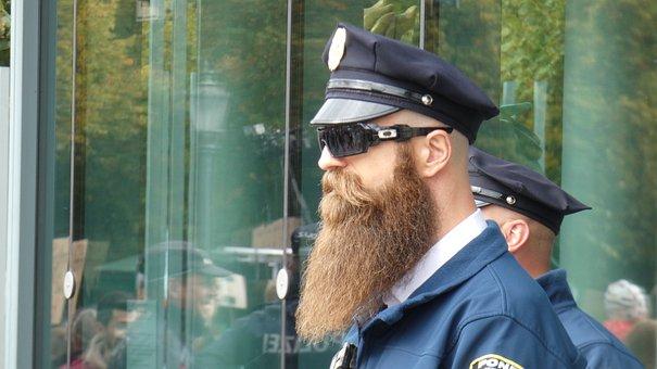 Cop, Bart, Police, Moustache, Supervision, Detective
