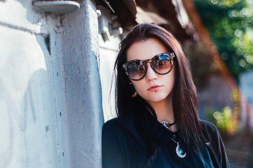 Girl, Portrait, Brunette, Sunglasses, Russian, 50mm