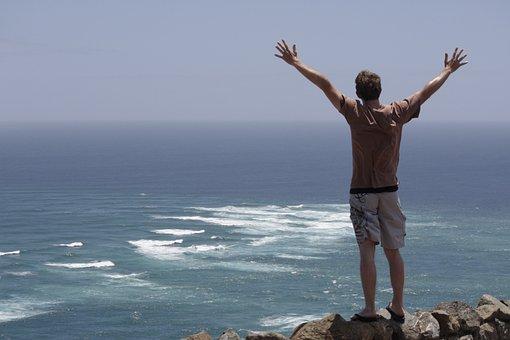 Worship, Cape, Christian, Oceans, Nature, Hands, Raised