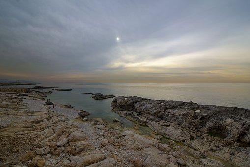 Sea, Water, Lebanon, Beach, Sunset, Clouds, Nature, Sky