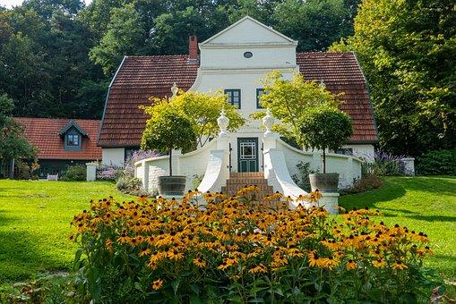 Park, Garden, House, Old, Summer, Nature, Flora, Bloom