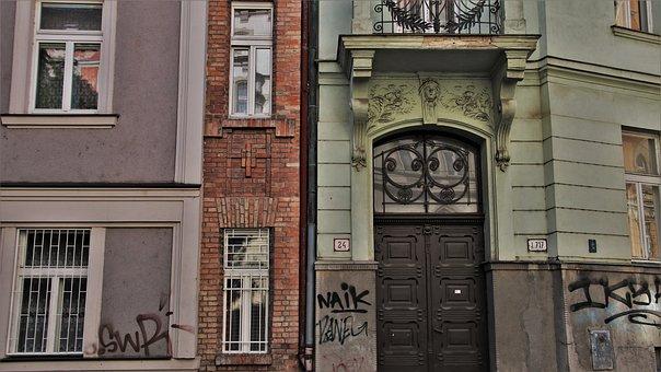 Old Windows, Entrance, Bratislava, Target, Plaster