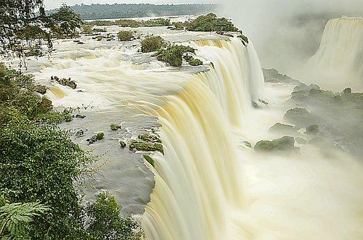 Brazil, Waterfall, Nature, Landscape, Water, Waterfalls