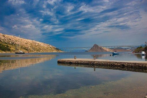 Krk, Bridge, Island, Water, Sea, Croatia, Adriatic Sea