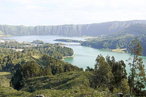 Brine, Water, Mountain, Panorama, Nature, Mountains