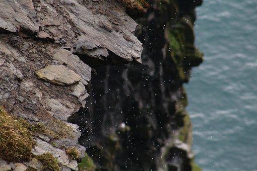 Irish, Ireland, Cliffs, Water, Drop