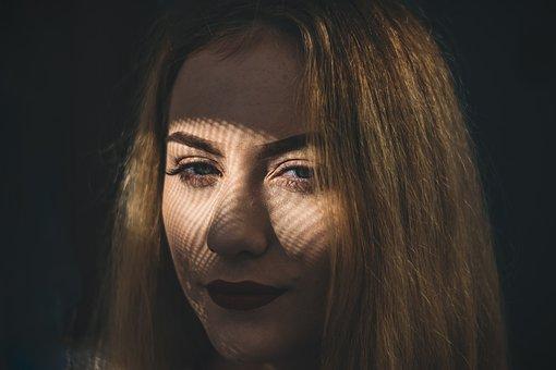Shadow, Face, Woman, Portrait, Girl, Human, Hair