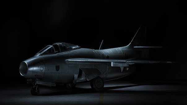 Saab29, Model Airplane, Light Painting, Flying Ton