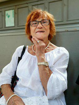 Grandma, Grandmother, Old Lady, Church, Smile, Laugh