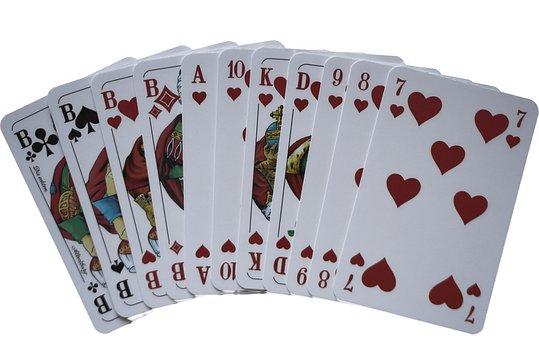 Skat, Card Game, Gambling, Win, Heart, Pub