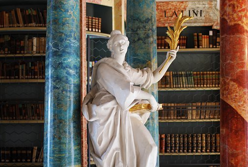 The Monastery Library, Rococo, Library Hall, Sculpture