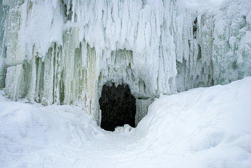 Waterfall, A Frozen Waterfall, Cold, Nature, Ice