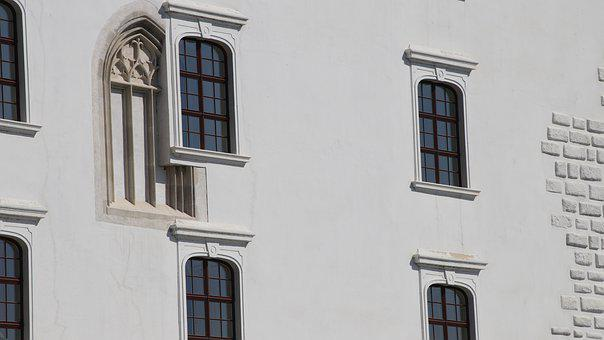 Wall, Old Windows, Style, Facade, Plaster, Castle