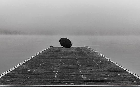 Lake, Fog, Pier, Mood, Atmosphere, Sky, Foggy, Morning