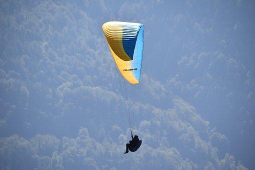 Paragliding, Paraglider, Site La Forclaz Haute Savoie
