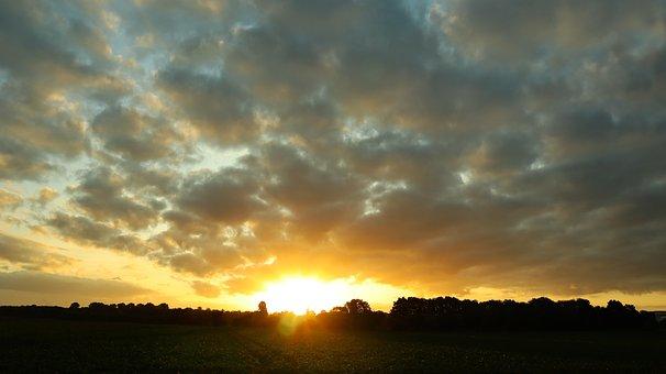 Sunrise, Morning, Landscape, Nature, Sky, Summer