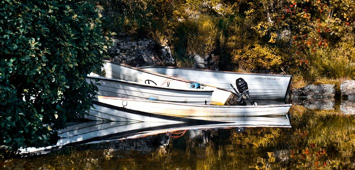 Boats, Reflect, Water, Nature, Sky, Outdoors, Sunrise