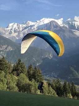 Paragliding, Paraglider, Take Off, Flight, Free Flight