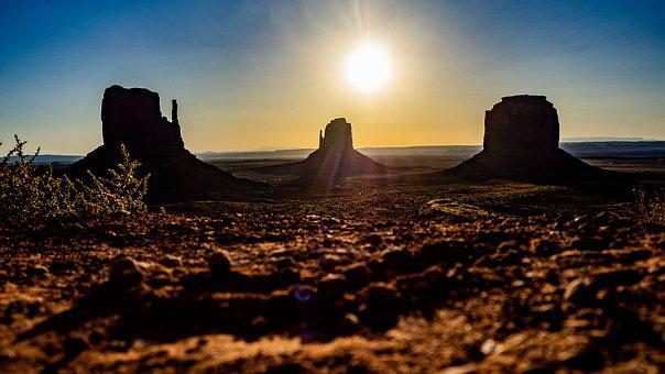 Monument Valley, Utah, Arizona, Sunrise, Usa, America