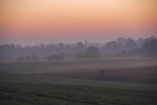 Autumn, East, Morning, Landscape, Nature, The Fog