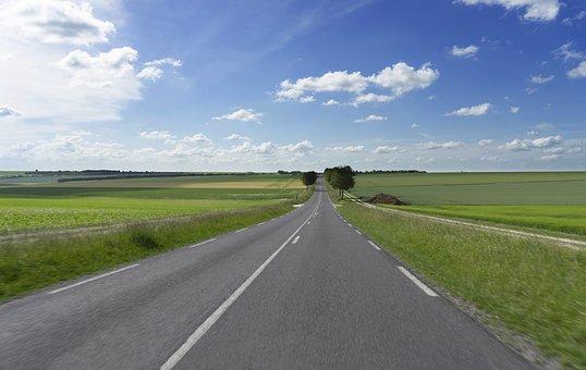Road, Away, Landscape, Sky, Nature, Target, Travel