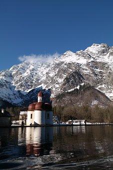 Chapel, Church, Panorama, Mountains, Mountain, Snow