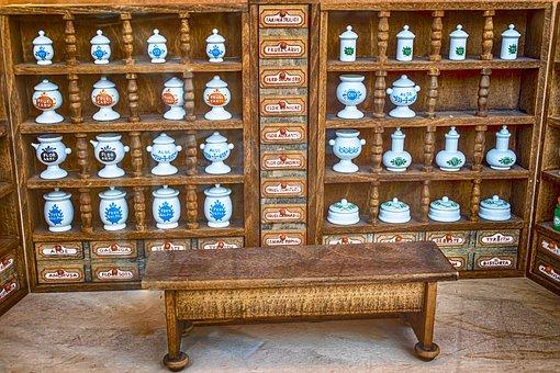 Pharmacy, Miniature, Decoration, Toys, Small, Porcelain