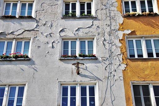 Facade, Old Plaster, Wall, Façades, Kamienica