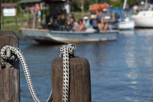 Ferry, Baabe, Waters, Rügen Island, Boat, Rowing