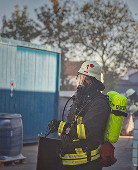 Fire, Exercise, Fire Fighting, Fire Fighter, Equipment