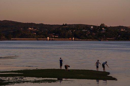 Fishing, Lake, Fisherman, Boat, Landscape, Leisure, Sea