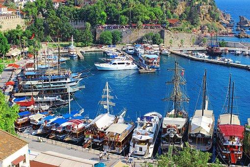 Boat, Port, Sea, Day, Turkey, Antalya, Marine, Roche