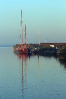 Morning Sun, Port, Sailing Boat, Water, Morning, Ships