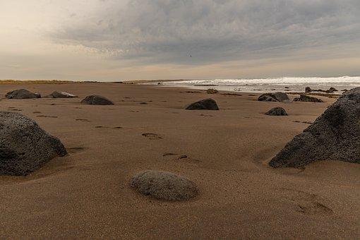 Landscape, Stone, Coast, Sea, Beach, Nature, Iceland