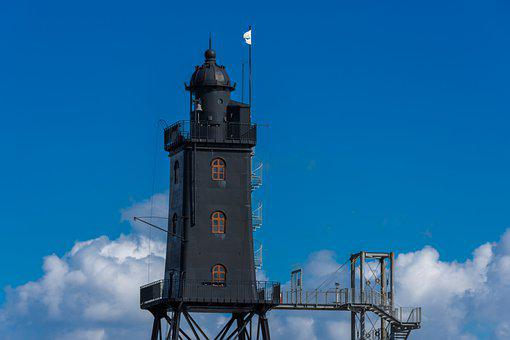 Lighthouse, Wadden Sea, Monument, North Sea, Navigation
