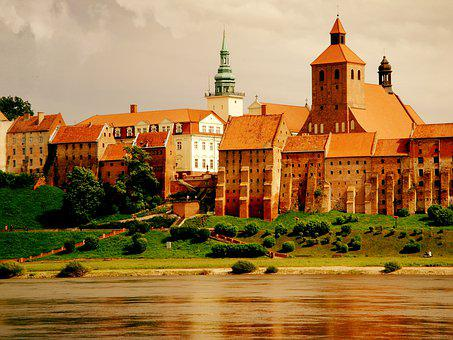 Overall The Vistula, City, Grudziadz, Poland, Monuments