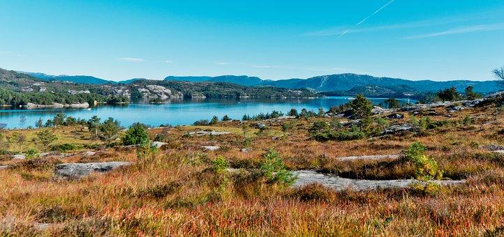 Beautiful, Lake, Norway, Water, Nature, Sky, Landscape