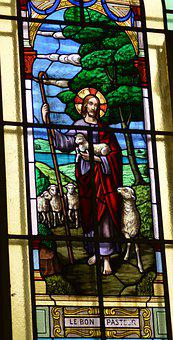 Stained Glass, Window, Church, Faith, Jesus, Berger