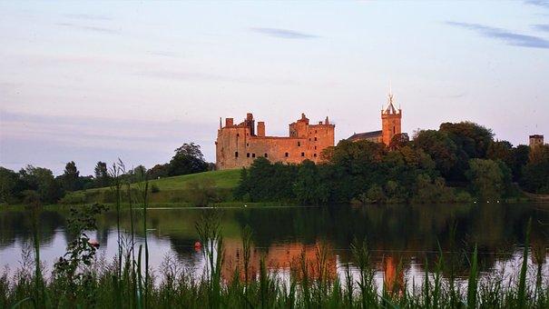 Palace, Sunset, Castle, Scotland, Linlithgow